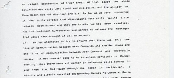 Excerpts Affidavits 1990 Coup Archives Culture Division