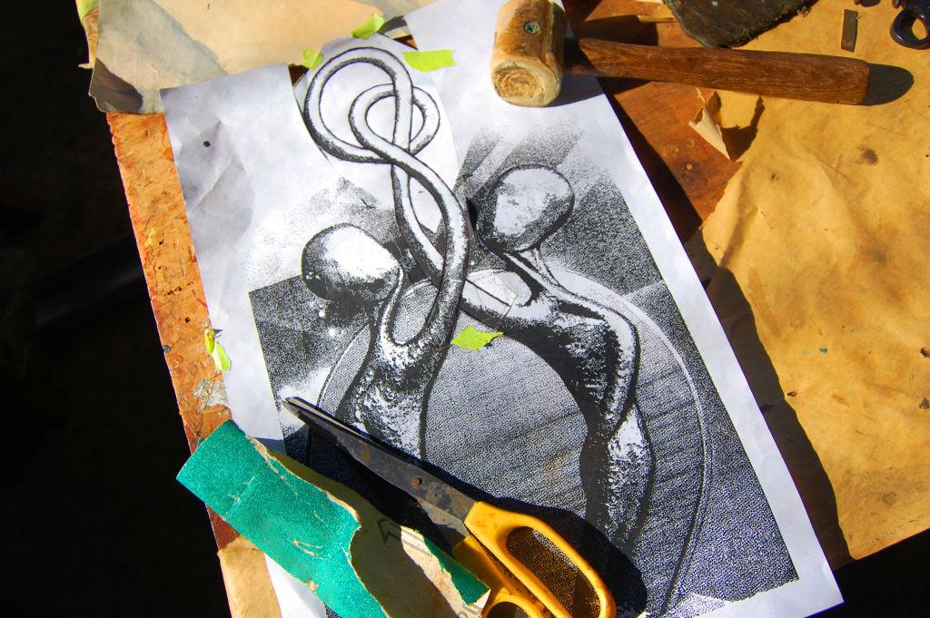 Artist's Sketch of MBM Trophy